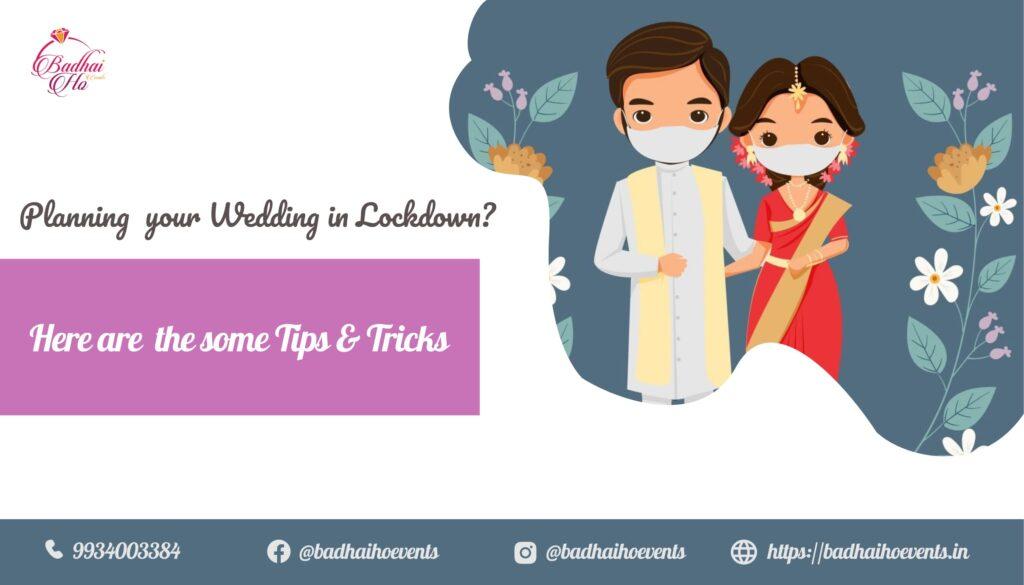 lockdown wedding tips and tricks